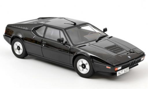 Bmw M1 1/18 Norev black 1980 diecast model cars