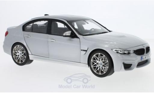 Bmw M3 1/18 Norev Competition grey 2017 diecast model cars