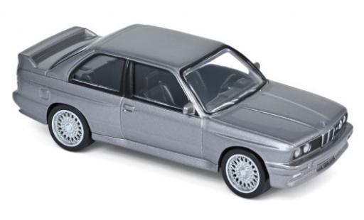 Bmw M3 1/43 Norev (E30) metallise gris 1986 Jetcar coche miniatura