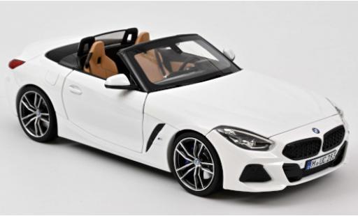 Bmw Z4 1/18 Norev white 2018 diecast model cars