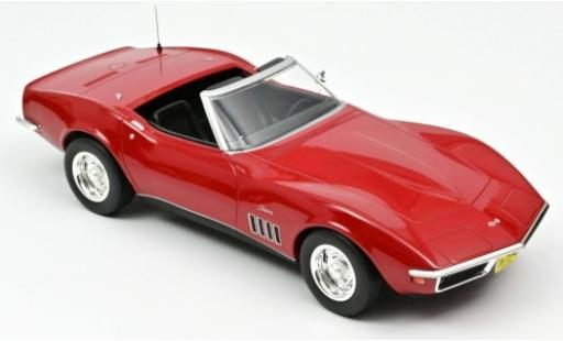 Chevrolet Corvette 1/18 Norev C3 Convertible rouge 1969 miniature