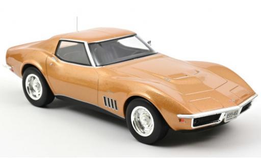 Chevrolet Corvette 1/18 Norev (C3) Coupe gold 1969 diecast model cars