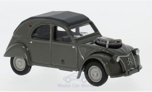 Citroen 2CV 1/64 Norev 4x4 grise miniature