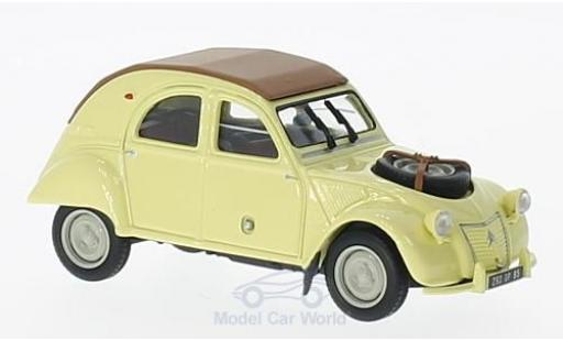 Citroen 2CV 1/43 Norev 4x4 Sahara yellow 1961 diecast model cars
