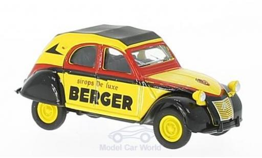 Citroen 2CV 1/64 Norev AZLP yellow/black Cycliste (F) 1959 diecast model cars