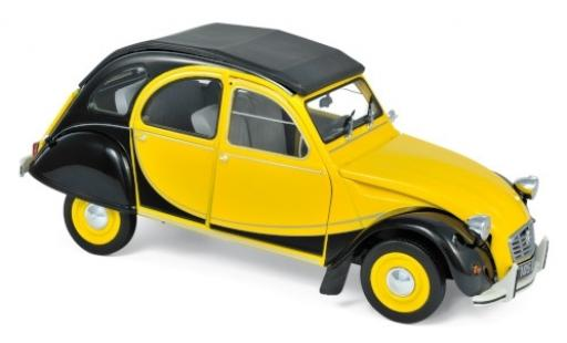 Citroen 2CV 1/18 Norev Charleston yellow/black 1982 diecast model cars