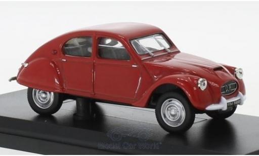 Citroen 2CV 1/43 Norev Dagonet rouge 1956 miniature