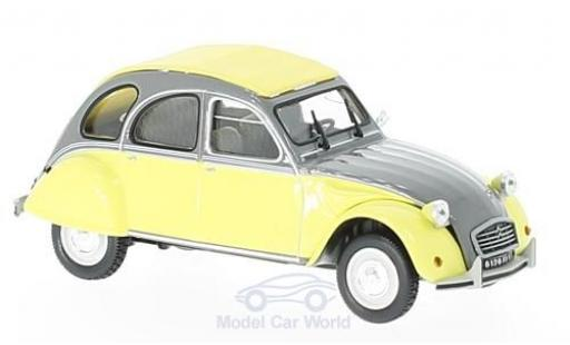 Citroen 2CV 1/43 Norev Dolly yellow/grey 1985 diecast model cars