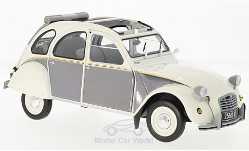 Citroen 2CV 1/18 Norev Dolly blanche/grise 1985 miniature