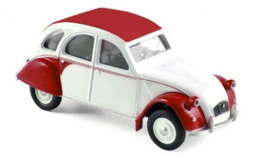 Citroen 2CV 1/64 Norev Dolly bianco/rosso 1986 modellino in miniatura