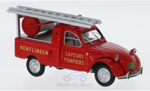 Citroen 2CV 1/43 Norev Pick-up Pompiers (F) 1963 diecast model cars
