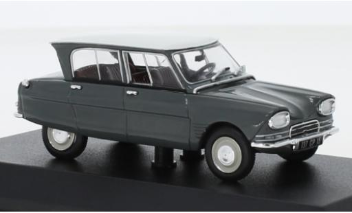 Citroen Ami 6 1/43 Norev gris/blanco 1967 coche miniatura