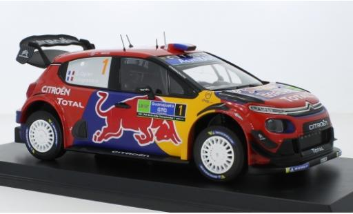 Citroen C3 1/18 Norev WRC No.1 Red Bull / Total WRC Rally Mexico 2019 S.Ogier/J.Ingrassia miniature