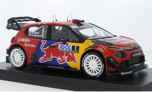 Citroen C3 1/18 Norev WRC No.1 Red Bull / Total WRC Tour de Corse 2019 S.Ogier/J.Ingrassia coche miniatura