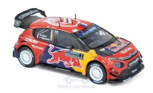 Citroen C3 1/43 Norev WRC No.1 Red Bull WRC Rallye Monte Carlo 2019 S.Ogier/J.Ingrassia miniature