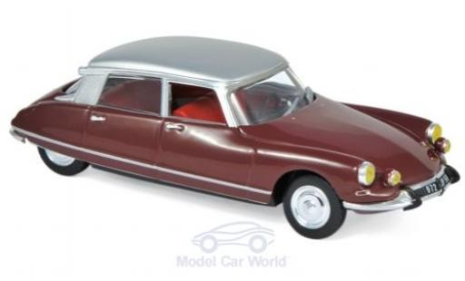 Citroen DS 1/43 Norev 21 Pallas rouge/grise 1967 miniature