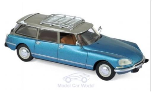 Citroen DS 1/43 Norev 23 Break metallico blu/beige 1974 miniatura