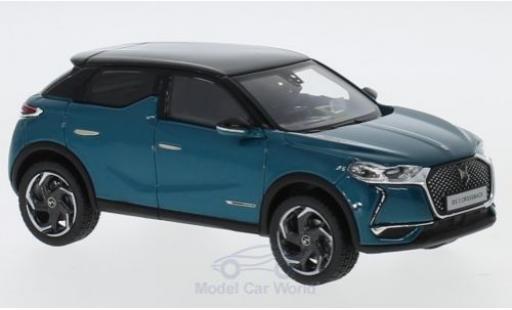 DS Automobiles DS3 19 1/43 Norev Citroen DS 3 Crossback metallise turquoise/noire 2019 miniature
