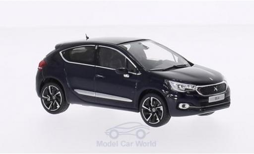 DS Automobiles DS4 1/43 Norev Citroen DS 4 metallise bleue 2015 miniature