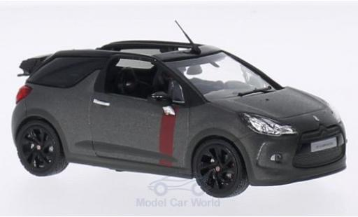 DS Automobiles DS3 1/43 Norev Citroen Cabrio Racing matt-grise 2014 miniature