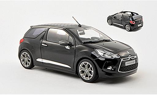 DS Automobiles DS3 1/18 Norev Citroen Cabrio noire 2013 Verdeck in 3 Positionen darstellbar miniature