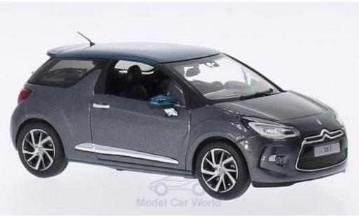 DS Automobiles DS3 1/43 Norev Citroen metallise grise/metallise verte 2015 miniature
