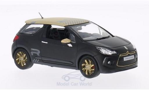DS Automobiles DS3 1/43 Norev Citroen Racing matt-black/matt-gold 2013 diecast model cars