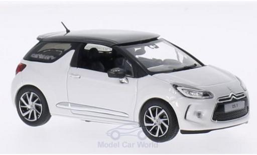 DS Automobiles DS3 1/43 Norev Citroen blanche/metallise grise 2014 miniature
