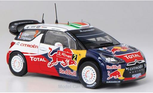 DS Automobiles DS3 1/43 Norev Citroen WRC No.2 Red Bull Total Rallye WM Rallye Portugal 2011 S.Ogier/J.Ingrassia miniature