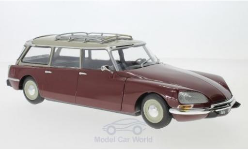 Citroen DS 21 1/18 Norev C Break red/beige 1970 diecast model cars