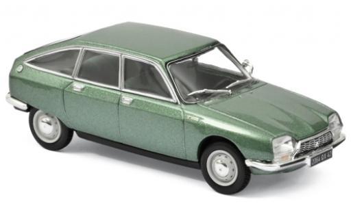 Citroen GS 1/43 Norev 1200 Club metallise verde 1973 coche miniatura