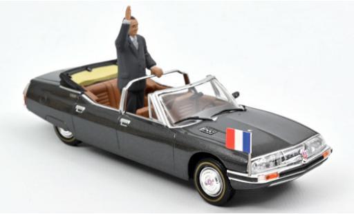 Citroen SM 1/43 Norev Presidentielle metallise grey 1995 avec Figur: Jacques Chirac diecast model cars