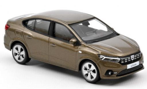 Dacia Logan 1/43 Norev metallise brown 2021 diecast model cars