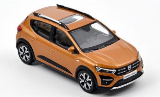 Dacia Sandero 1/43 Norev Stepway metallise orange 2021 diecast model cars