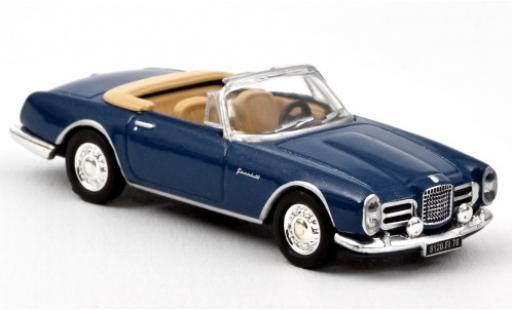 Facel Vega II 1/87 Norev I Cabriolet metallise blue 1963 diecast model cars