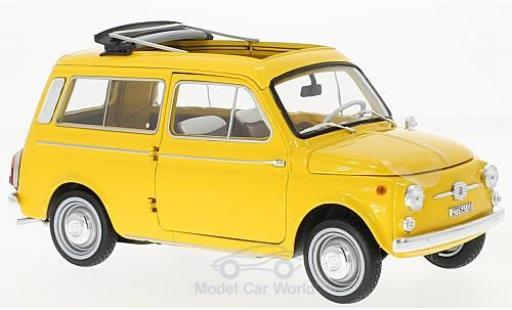 Fiat 500 L 1/18 Norev Giardiniera yellow 1968 diecast model cars