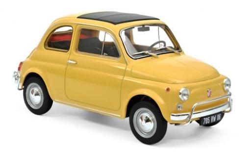 Fiat 500 1/18 Norev L beige 1968 miniature