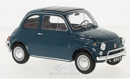 Fiat 500 1/18 Norev L blue 1968 diecast model cars