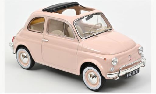 Fiat 500 1/18 Norev L pink 1968 diecast model cars
