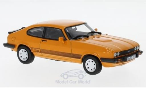 Ford Capri 1/43 Norev MK III 3.0S orange 1986 miniatura