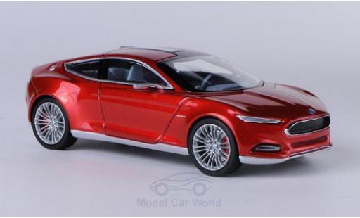 Ford Evos 1/43 Norev Concept metallise red 2011 IAA Frankfurt diecast model cars