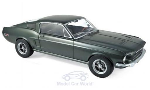 Ford Mustang 1/12 Norev Fastback metallico verde 1968 miniatura