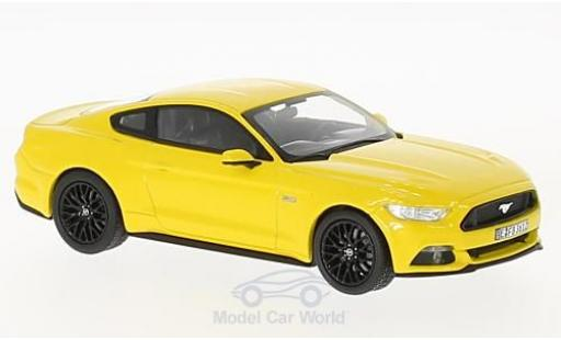 Ford Mustang GT 1/43 Norev yellow 2015 diecast model cars