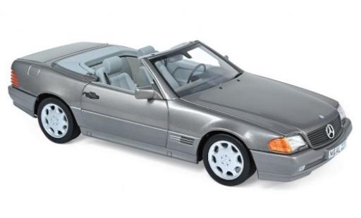 Mercedes 500 1/18 Norev SL (R129) metallise grise 1989 miniature