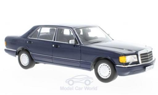Mercedes 560 SEL 1/18 Norev SEL (W126) dunkelbleue 1991 miniature