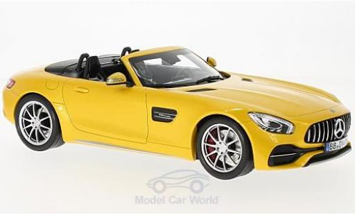 Mercedes AMG GT 1/18 Norev C Roadster metallise yellow 2017 diecast model cars