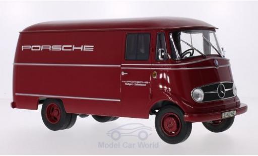 Mercedes L319 1/18 Norev Porsche Renndienst 1955 Türen und Hauben geschlossen diecast