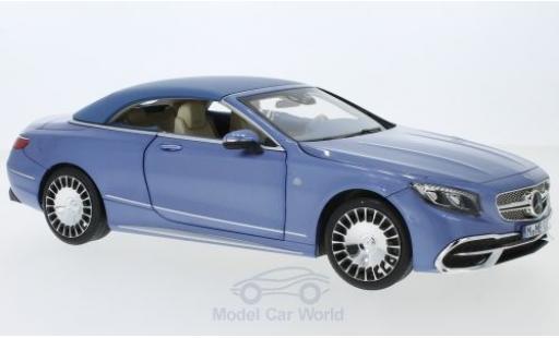 Mercedes Classe S 1/18 Norev Maybach S650 Cabriolet metallise bleue 2018 SoftTop liegt ein miniature