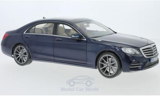 Mercedes CLA 1/18 Norev S-Class AMG-Line metallise blue 2018 diecast model cars