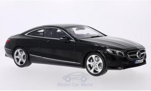 Mercedes Classe S 1/18 Norev Coupe (C217) black 2014 diecast model cars